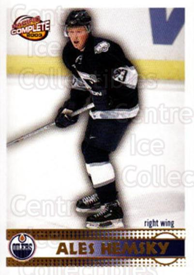 2002-03 Pacific Complete #523 Ales Hemsky<br/>1 In Stock - $3.00 each - <a href=https://centericecollectibles.foxycart.com/cart?name=2002-03%20Pacific%20Complete%20%23523%20Ales%20Hemsky...&quantity_max=1&price=$3.00&code=331210 class=foxycart> Buy it now! </a>