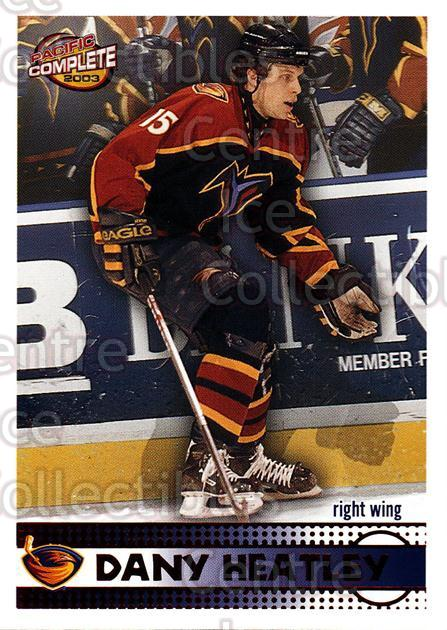 2002-03 Pacific Complete Red #15 Dany Heatley<br/>3 In Stock - $3.00 each - <a href=https://centericecollectibles.foxycart.com/cart?name=2002-03%20Pacific%20Complete%20Red%20%2315%20Dany%20Heatley...&quantity_max=3&price=$3.00&code=331302 class=foxycart> Buy it now! </a>
