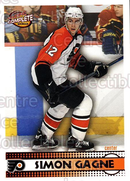 2002-03 Pacific Complete Red #18 Simon Gagne<br/>2 In Stock - $3.00 each - <a href=https://centericecollectibles.foxycart.com/cart?name=2002-03%20Pacific%20Complete%20Red%20%2318%20Simon%20Gagne...&quantity_max=2&price=$3.00&code=331305 class=foxycart> Buy it now! </a>