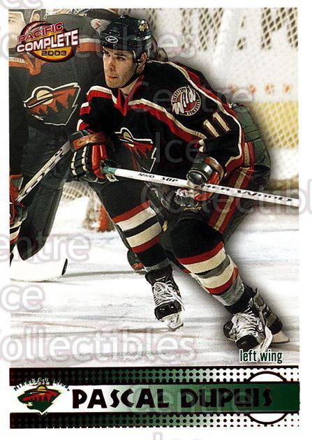 2002-03 Pacific Complete Red #36 Pascal Dupuis<br/>4 In Stock - $3.00 each - <a href=https://centericecollectibles.foxycart.com/cart?name=2002-03%20Pacific%20Complete%20Red%20%2336%20Pascal%20Dupuis...&quantity_max=4&price=$3.00&code=331323 class=foxycart> Buy it now! </a>