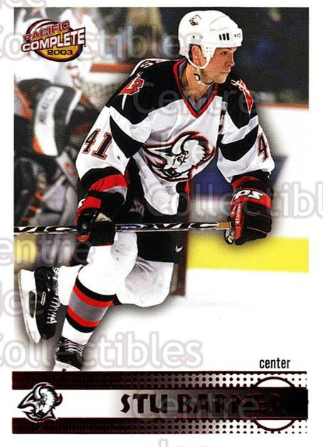 2002-03 Pacific Complete Red #86 Stu Barnes<br/>5 In Stock - $3.00 each - <a href=https://centericecollectibles.foxycart.com/cart?name=2002-03%20Pacific%20Complete%20Red%20%2386%20Stu%20Barnes...&quantity_max=5&price=$3.00&code=331373 class=foxycart> Buy it now! </a>