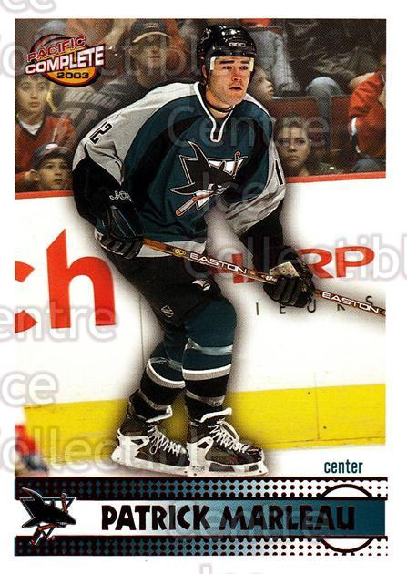 2002-03 Pacific Complete Red #113 Patrick Marleau<br/>4 In Stock - $3.00 each - <a href=https://centericecollectibles.foxycart.com/cart?name=2002-03%20Pacific%20Complete%20Red%20%23113%20Patrick%20Marleau...&quantity_max=4&price=$3.00&code=331400 class=foxycart> Buy it now! </a>