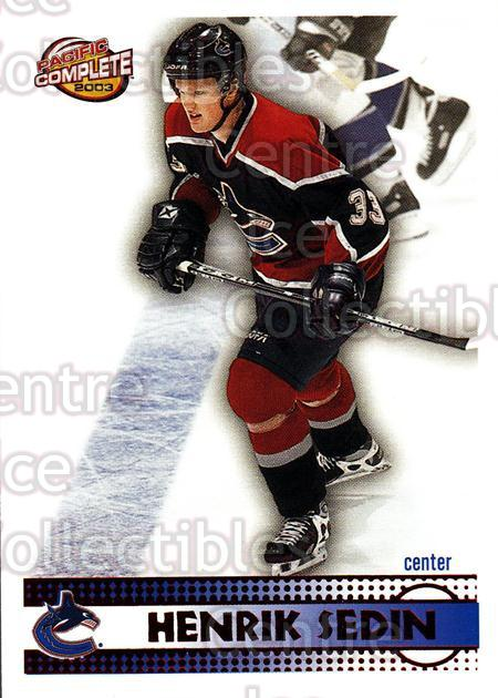 2002-03 Pacific Complete Red #235 Henrik Sedin<br/>3 In Stock - $3.00 each - <a href=https://centericecollectibles.foxycart.com/cart?name=2002-03%20Pacific%20Complete%20Red%20%23235%20Henrik%20Sedin...&quantity_max=3&price=$3.00&code=331522 class=foxycart> Buy it now! </a>