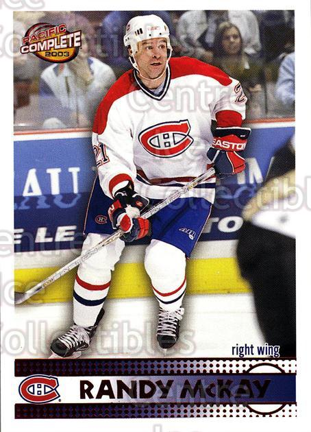 2002-03 Pacific Complete Red #253 Randy McKay<br/>5 In Stock - $3.00 each - <a href=https://centericecollectibles.foxycart.com/cart?name=2002-03%20Pacific%20Complete%20Red%20%23253%20Randy%20McKay...&quantity_max=5&price=$3.00&code=331540 class=foxycart> Buy it now! </a>