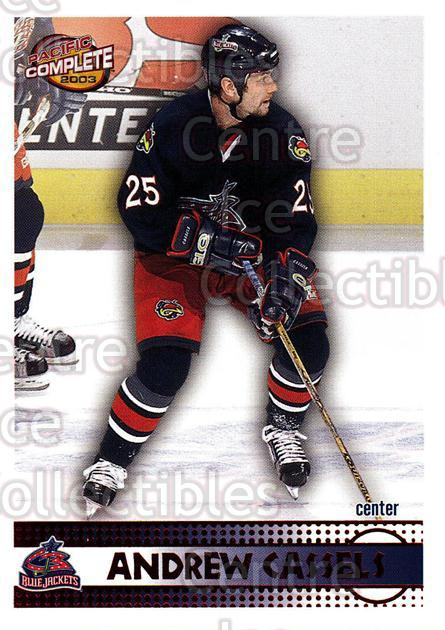 2002-03 Pacific Complete Red #399 Andrew Cassels<br/>6 In Stock - $3.00 each - <a href=https://centericecollectibles.foxycart.com/cart?name=2002-03%20Pacific%20Complete%20Red%20%23399%20Andrew%20Cassels...&quantity_max=6&price=$3.00&code=331686 class=foxycart> Buy it now! </a>