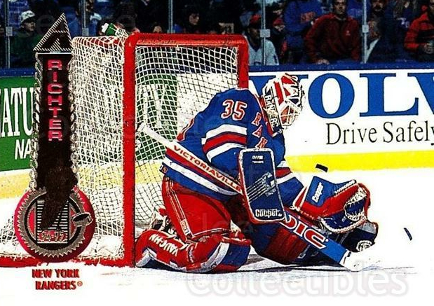 1994-95 Pinnacle #10 Mike Richter<br/>5 In Stock - $1.00 each - <a href=https://centericecollectibles.foxycart.com/cart?name=1994-95%20Pinnacle%20%2310%20Mike%20Richter...&quantity_max=5&price=$1.00&code=33168 class=foxycart> Buy it now! </a>