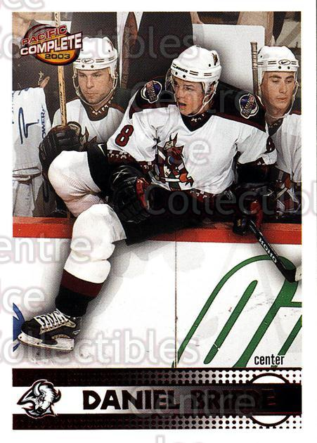 2002-03 Pacific Complete Red #406 Daniel Briere<br/>4 In Stock - $3.00 each - <a href=https://centericecollectibles.foxycart.com/cart?name=2002-03%20Pacific%20Complete%20Red%20%23406%20Daniel%20Briere...&quantity_max=4&price=$3.00&code=331693 class=foxycart> Buy it now! </a>