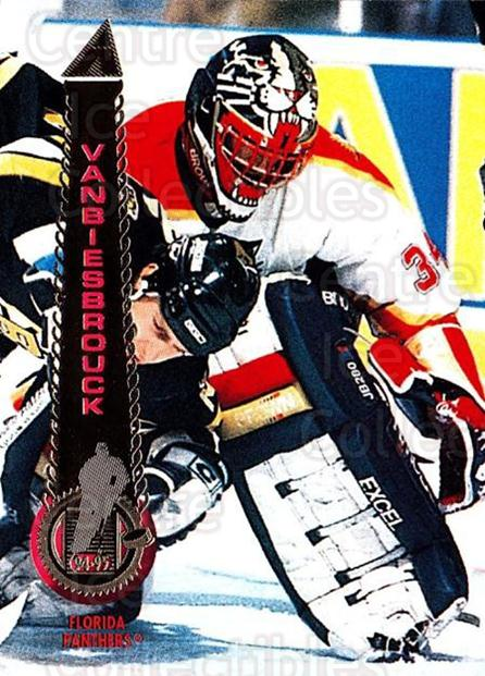 1994-95 Pinnacle #100 John Vanbiesbrouck<br/>2 In Stock - $1.00 each - <a href=https://centericecollectibles.foxycart.com/cart?name=1994-95%20Pinnacle%20%23100%20John%20Vanbiesbro...&quantity_max=2&price=$1.00&code=33169 class=foxycart> Buy it now! </a>