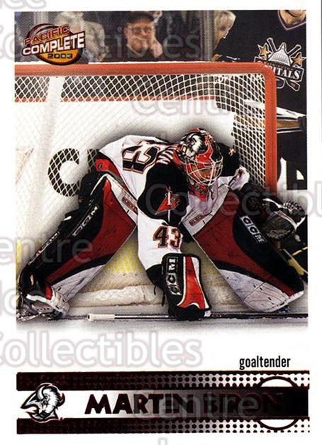 2002-03 Pacific Complete Red #459 Martin Biron<br/>3 In Stock - $3.00 each - <a href=https://centericecollectibles.foxycart.com/cart?name=2002-03%20Pacific%20Complete%20Red%20%23459%20Martin%20Biron...&quantity_max=3&price=$3.00&code=331746 class=foxycart> Buy it now! </a>