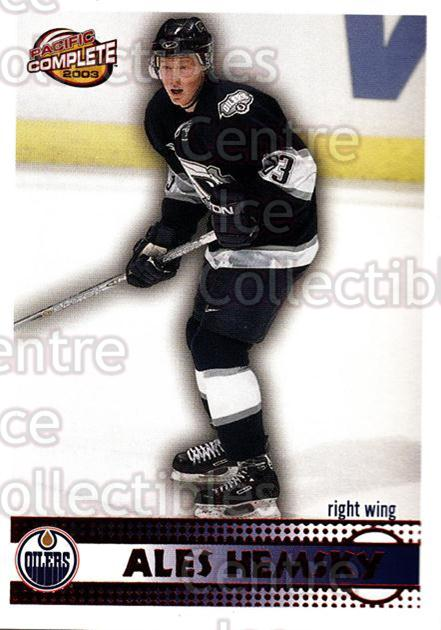 2002-03 Pacific Complete Red #523 Ales Hemsky<br/>3 In Stock - $5.00 each - <a href=https://centericecollectibles.foxycart.com/cart?name=2002-03%20Pacific%20Complete%20Red%20%23523%20Ales%20Hemsky...&quantity_max=3&price=$5.00&code=331810 class=foxycart> Buy it now! </a>