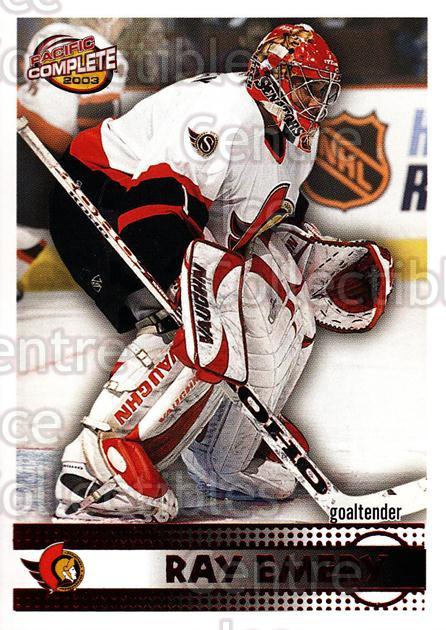 2002-03 Pacific Complete Red #566 Ray Emery<br/>2 In Stock - $3.00 each - <a href=https://centericecollectibles.foxycart.com/cart?name=2002-03%20Pacific%20Complete%20Red%20%23566%20Ray%20Emery...&quantity_max=2&price=$3.00&code=331853 class=foxycart> Buy it now! </a>