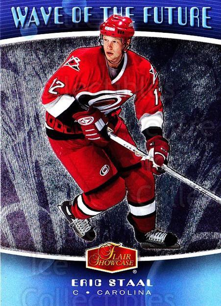 2006-07 Flair Showcase Wave of the Future #8 Eric Staal<br/>4 In Stock - $2.00 each - <a href=https://centericecollectibles.foxycart.com/cart?name=2006-07%20Flair%20Showcase%20Wave%20of%20the%20Future%20%238%20Eric%20Staal...&quantity_max=4&price=$2.00&code=331897 class=foxycart> Buy it now! </a>