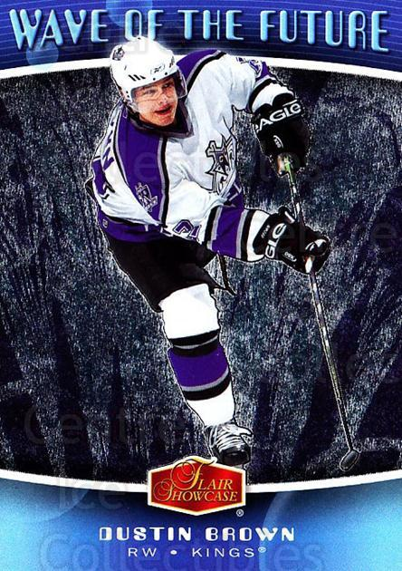 2006-07 Flair Showcase Wave of the Future #17 Dustin Brown<br/>3 In Stock - $2.00 each - <a href=https://centericecollectibles.foxycart.com/cart?name=2006-07%20Flair%20Showcase%20Wave%20of%20the%20Future%20%2317%20Dustin%20Brown...&quantity_max=3&price=$2.00&code=331906 class=foxycart> Buy it now! </a>