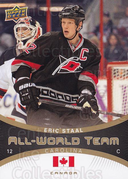 2010-11 Upper Deck All World Team #28 Eric Staal<br/>2 In Stock - $2.00 each - <a href=https://centericecollectibles.foxycart.com/cart?name=2010-11%20Upper%20Deck%20All%20World%20Team%20%2328%20Eric%20Staal...&quantity_max=2&price=$2.00&code=331974 class=foxycart> Buy it now! </a>