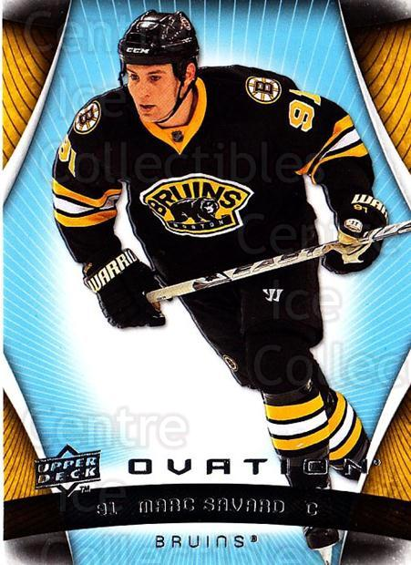 2009-10 UD Ovation #11 Marc Savard<br/>2 In Stock - $1.00 each - <a href=https://centericecollectibles.foxycart.com/cart?name=2009-10%20UD%20Ovation%20%2311%20Marc%20Savard...&quantity_max=2&price=$1.00&code=332115 class=foxycart> Buy it now! </a>