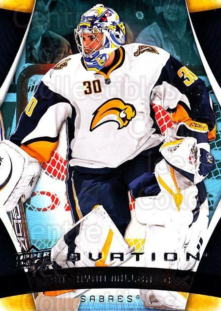 2009-10 UD Ovation #16 Ryan Miller<br/>2 In Stock - $1.00 each - <a href=https://centericecollectibles.foxycart.com/cart?name=2009-10%20UD%20Ovation%20%2316%20Ryan%20Miller...&quantity_max=2&price=$1.00&code=332120 class=foxycart> Buy it now! </a>