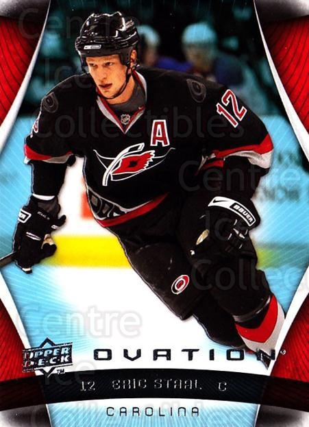 2009-10 UD Ovation #27 Eric Staal<br/>3 In Stock - $1.00 each - <a href=https://centericecollectibles.foxycart.com/cart?name=2009-10%20UD%20Ovation%20%2327%20Eric%20Staal...&quantity_max=3&price=$1.00&code=332131 class=foxycart> Buy it now! </a>