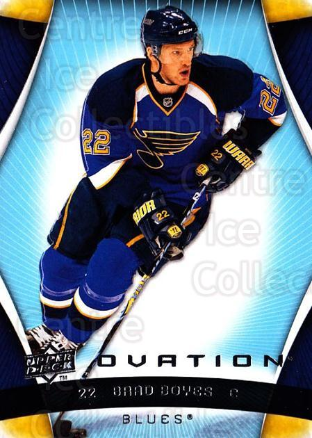 2009-10 UD Ovation #126 Brad Boyes<br/>5 In Stock - $1.00 each - <a href=https://centericecollectibles.foxycart.com/cart?name=2009-10%20UD%20Ovation%20%23126%20Brad%20Boyes...&quantity_max=5&price=$1.00&code=332230 class=foxycart> Buy it now! </a>