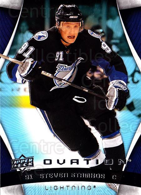 2009-10 UD Ovation #131 Steven Stamkos<br/>3 In Stock - $3.00 each - <a href=https://centericecollectibles.foxycart.com/cart?name=2009-10%20UD%20Ovation%20%23131%20Steven%20Stamkos...&quantity_max=3&price=$3.00&code=332235 class=foxycart> Buy it now! </a>