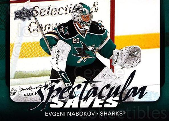 2008-09 Upper Deck Spectacular Saves #2 Evgeni Nabokov<br/>3 In Stock - $2.00 each - <a href=https://centericecollectibles.foxycart.com/cart?name=2008-09%20Upper%20Deck%20Spectacular%20Saves%20%232%20Evgeni%20Nabokov...&quantity_max=3&price=$2.00&code=332256 class=foxycart> Buy it now! </a>