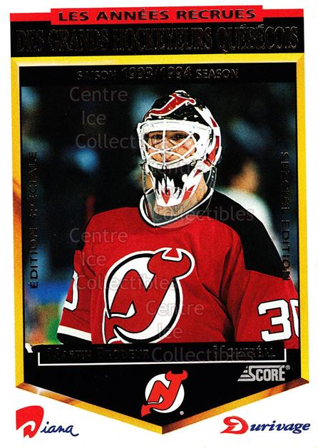 1993-94 Durivage Score #5 Martin Brodeur<br/>11 In Stock - $5.00 each - <a href=https://centericecollectibles.foxycart.com/cart?name=1993-94%20Durivage%20Score%20%235%20Martin%20Brodeur...&price=$5.00&code=332273 class=foxycart> Buy it now! </a>