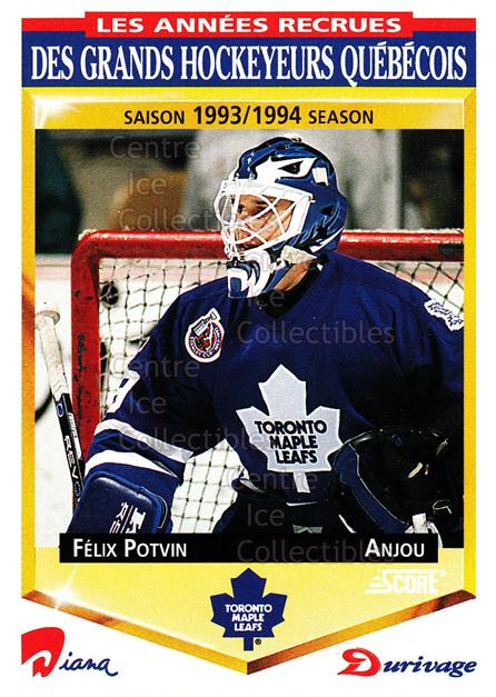 1993-94 Durivage Score #32 Felix Potvin<br/>8 In Stock - $2.00 each - <a href=https://centericecollectibles.foxycart.com/cart?name=1993-94%20Durivage%20Score%20%2332%20Felix%20Potvin...&quantity_max=8&price=$2.00&code=332276 class=foxycart> Buy it now! </a>