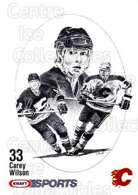 1986-87 Kraft Drawings Cardboard Blue Backs #80 Carey Wilson<br/>1 In Stock - $3.00 each - <a href=https://centericecollectibles.foxycart.com/cart?name=1986-87%20Kraft%20Drawings%20Cardboard%20Blue%20Backs%20%2380%20Carey%20Wilson...&quantity_max=1&price=$3.00&code=332350 class=foxycart> Buy it now! </a>