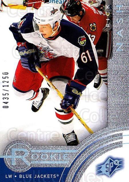 2001-02 SPx Rookie Redeemed #9 Rick Nash<br/>3 In Stock - $20.00 each - <a href=https://centericecollectibles.foxycart.com/cart?name=2001-02%20SPx%20Rookie%20Redeemed%20%239%20Rick%20Nash...&quantity_max=3&price=$20.00&code=332367 class=foxycart> Buy it now! </a>