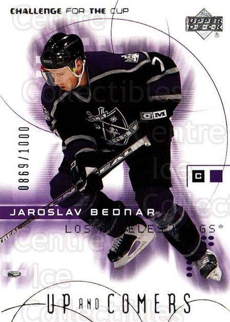 2001-02 UD Challenge for the Cup #109 Jaroslav Bednar<br/>1 In Stock - $3.00 each - <a href=https://centericecollectibles.foxycart.com/cart?name=2001-02%20UD%20Challenge%20for%20the%20Cup%20%23109%20Jaroslav%20Bednar...&quantity_max=1&price=$3.00&code=332476 class=foxycart> Buy it now! </a>