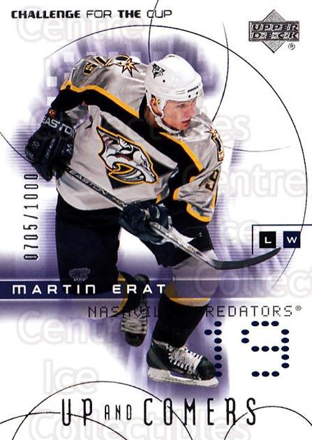 2001-02 UD Challenge for the Cup #115 Martin Erat<br/>3 In Stock - $3.00 each - <a href=https://centericecollectibles.foxycart.com/cart?name=2001-02%20UD%20Challenge%20for%20the%20Cup%20%23115%20Martin%20Erat...&quantity_max=3&price=$3.00&code=332480 class=foxycart> Buy it now! </a>