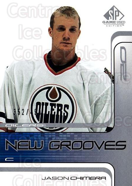 2001-02 SP Game Used #77 Jason Chimera<br/>5 In Stock - $5.00 each - <a href=https://centericecollectibles.foxycart.com/cart?name=2001-02%20SP%20Game%20Used%20%2377%20Jason%20Chimera...&quantity_max=5&price=$5.00&code=332503 class=foxycart> Buy it now! </a>