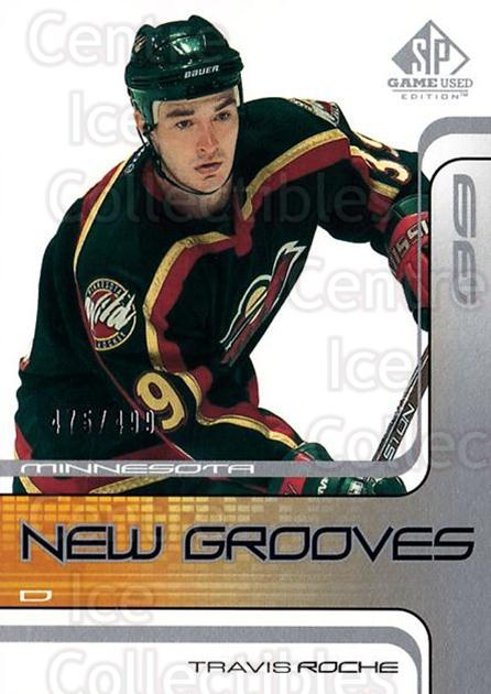 2001-02 SP Game Used #82 Travis Roche<br/>3 In Stock - $5.00 each - <a href=https://centericecollectibles.foxycart.com/cart?name=2001-02%20SP%20Game%20Used%20%2382%20Travis%20Roche...&quantity_max=3&price=$5.00&code=332506 class=foxycart> Buy it now! </a>