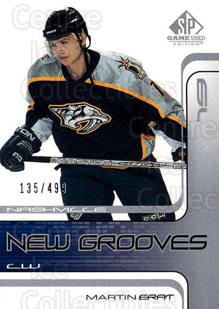 2001-02 SP Game Used #83 Martin Erat<br/>3 In Stock - $5.00 each - <a href=https://centericecollectibles.foxycart.com/cart?name=2001-02%20SP%20Game%20Used%20%2383%20Martin%20Erat...&quantity_max=3&price=$5.00&code=332507 class=foxycart> Buy it now! </a>
