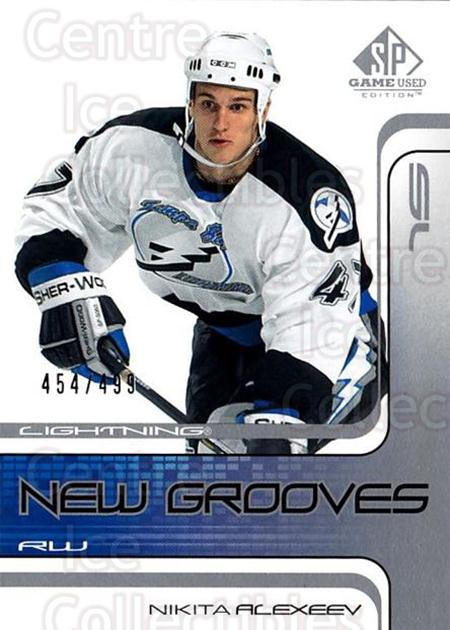 2001-02 SP Game Used #98 Nikita Alexeev<br/>2 In Stock - $5.00 each - <a href=https://centericecollectibles.foxycart.com/cart?name=2001-02%20SP%20Game%20Used%20%2398%20Nikita%20Alexeev...&quantity_max=2&price=$5.00&code=332513 class=foxycart> Buy it now! </a>