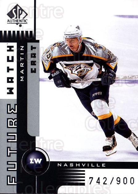 2001-02 SP Authentic #157 Martin Erat<br/>2 In Stock - $5.00 each - <a href=https://centericecollectibles.foxycart.com/cart?name=2001-02%20SP%20Authentic%20%23157%20Martin%20Erat...&quantity_max=2&price=$5.00&code=332553 class=foxycart> Buy it now! </a>