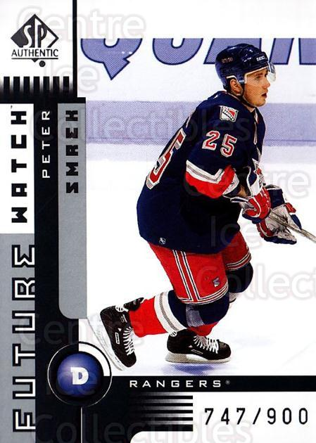 2001-02 SP Authentic #161 Peter Smrek<br/>3 In Stock - $5.00 each - <a href=https://centericecollectibles.foxycart.com/cart?name=2001-02%20SP%20Authentic%20%23161%20Peter%20Smrek...&quantity_max=3&price=$5.00&code=332556 class=foxycart> Buy it now! </a>