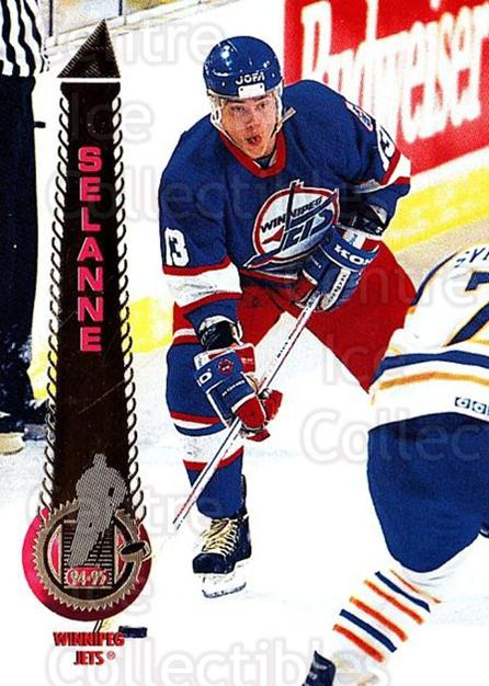 1994-95 Pinnacle #25 Teemu Selanne<br/>2 In Stock - $2.00 each - <a href=https://centericecollectibles.foxycart.com/cart?name=1994-95%20Pinnacle%20%2325%20Teemu%20Selanne...&quantity_max=2&price=$2.00&code=33289 class=foxycart> Buy it now! </a>