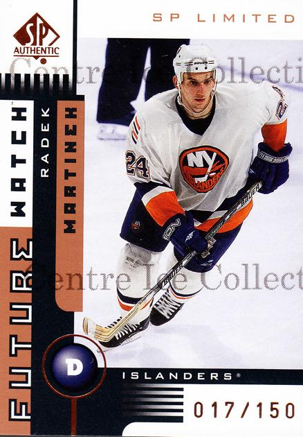 2001-02 SP Authentic Limited #163 Radek Martinek<br/>1 In Stock - $5.00 each - <a href=https://centericecollectibles.foxycart.com/cart?name=2001-02%20SP%20Authentic%20Limited%20%23163%20Radek%20Martinek...&quantity_max=1&price=$5.00&code=333214 class=foxycart> Buy it now! </a>