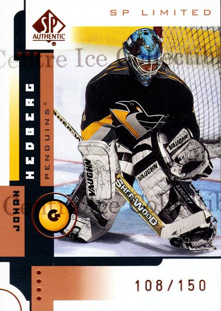 2001-02 SP Authentic Limited #70 Johan Hedberg<br/>1 In Stock - $3.00 each - <a href=https://centericecollectibles.foxycart.com/cart?name=2001-02%20SP%20Authentic%20Limited%20%2370%20Johan%20Hedberg...&quantity_max=1&price=$3.00&code=333272 class=foxycart> Buy it now! </a>