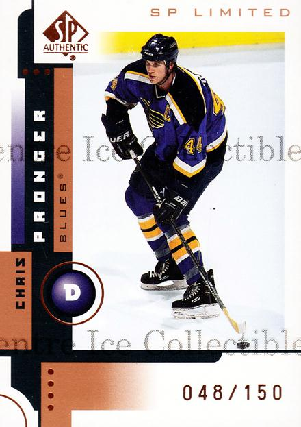 2001-02 SP Authentic Limited #78 Chris Pronger<br/>1 In Stock - $3.00 each - <a href=https://centericecollectibles.foxycart.com/cart?name=2001-02%20SP%20Authentic%20Limited%20%2378%20Chris%20Pronger...&quantity_max=1&price=$3.00&code=333280 class=foxycart> Buy it now! </a>