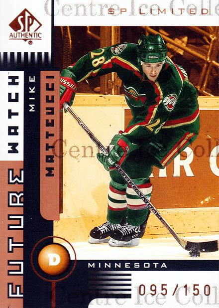 2001-02 SP Authentic Limited #152 Mike Matteucci<br/>1 In Stock - $5.00 each - <a href=https://centericecollectibles.foxycart.com/cart?name=2001-02%20SP%20Authentic%20Limited%20%23152%20Mike%20Matteucci...&quantity_max=1&price=$5.00&code=333324 class=foxycart> Buy it now! </a>