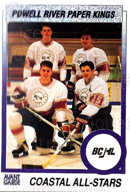 1991-92 British Columbia Junior Hockey League #161 All-Stars<br/>3 In Stock - $2.00 each - <a href=https://centericecollectibles.foxycart.com/cart?name=1991-92%20British%20Columbia%20Junior%20Hockey%20League%20%23161%20All-Stars...&price=$2.00&code=334087 class=foxycart> Buy it now! </a>