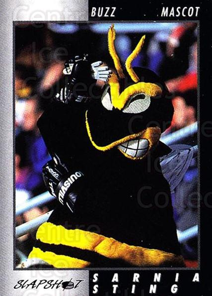 1994-95 Sarnia Sting #30 Mascot<br/>3 In Stock - $3.00 each - <a href=https://centericecollectibles.foxycart.com/cart?name=1994-95%20Sarnia%20Sting%20%2330%20Mascot...&quantity_max=3&price=$3.00&code=33411 class=foxycart> Buy it now! </a>