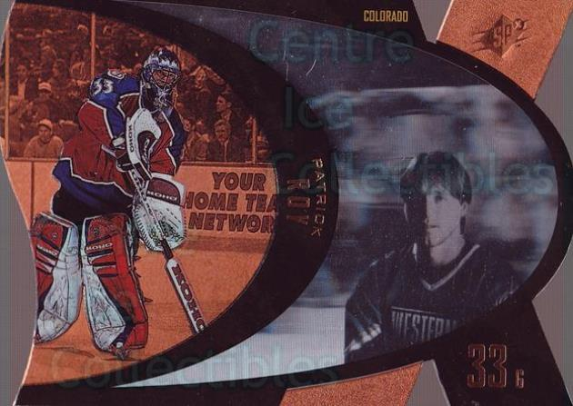 1997-98 SPx Bronze #10 Patrick Roy<br/>1 In Stock - $10.00 each - <a href=https://centericecollectibles.foxycart.com/cart?name=1997-98%20SPx%20Bronze%20%2310%20Patrick%20Roy...&price=$10.00&code=335696 class=foxycart> Buy it now! </a>