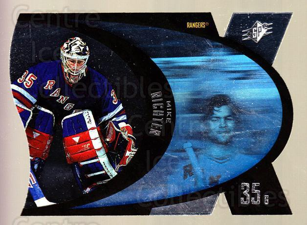 1997-98 SPx Steel #31 Mike Richter<br/>8 In Stock - $2.00 each - <a href=https://centericecollectibles.foxycart.com/cart?name=1997-98%20SPx%20Steel%20%2331%20Mike%20Richter...&quantity_max=8&price=$2.00&code=335721 class=foxycart> Buy it now! </a>
