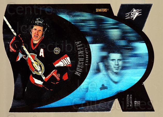 1997-98 SPx Steel #34 Daniel Alfredsson<br/>5 In Stock - $2.00 each - <a href=https://centericecollectibles.foxycart.com/cart?name=1997-98%20SPx%20Steel%20%2334%20Daniel%20Alfredss...&quantity_max=5&price=$2.00&code=335724 class=foxycart> Buy it now! </a>