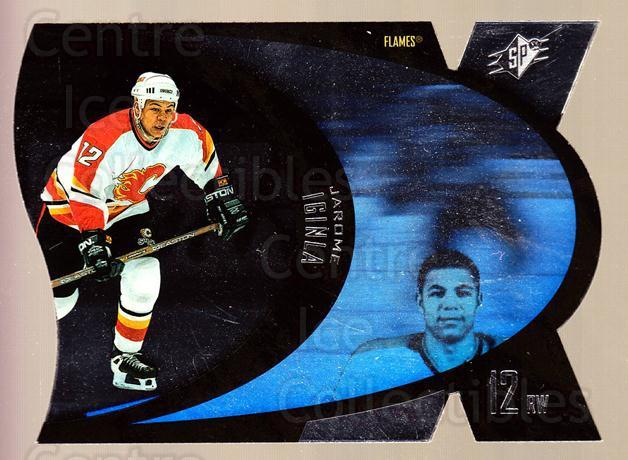 1997-98 SPx Steel #7 Jarome Iginla<br/>2 In Stock - $2.00 each - <a href=https://centericecollectibles.foxycart.com/cart?name=1997-98%20SPx%20Steel%20%237%20Jarome%20Iginla...&quantity_max=2&price=$2.00&code=335745 class=foxycart> Buy it now! </a>