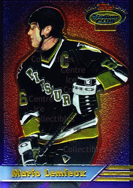 1993-94 Stadium Club Finest #10 Mario Lemieux<br/>4 In Stock - $5.00 each - <a href=https://centericecollectibles.foxycart.com/cart?name=1993-94%20Stadium%20Club%20Finest%20%2310%20Mario%20Lemieux...&quantity_max=4&price=$5.00&code=335943 class=foxycart> Buy it now! </a>