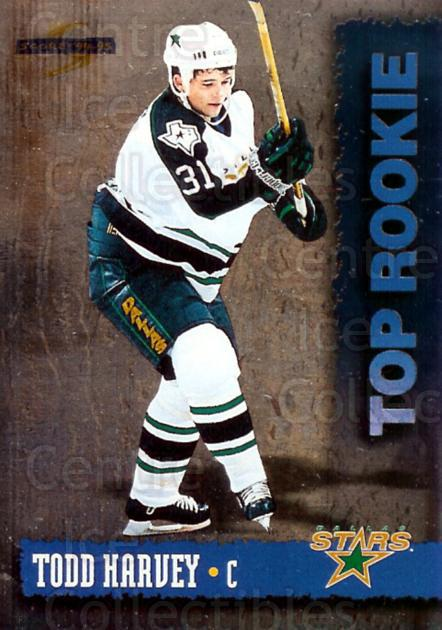 1994-95 Score Top Rookie Redeemed #9 Todd Harvey<br/>10 In Stock - $3.00 each - <a href=https://centericecollectibles.foxycart.com/cart?name=1994-95%20Score%20Top%20Rookie%20Redeemed%20%239%20Todd%20Harvey...&quantity_max=10&price=$3.00&code=33753 class=foxycart> Buy it now! </a>