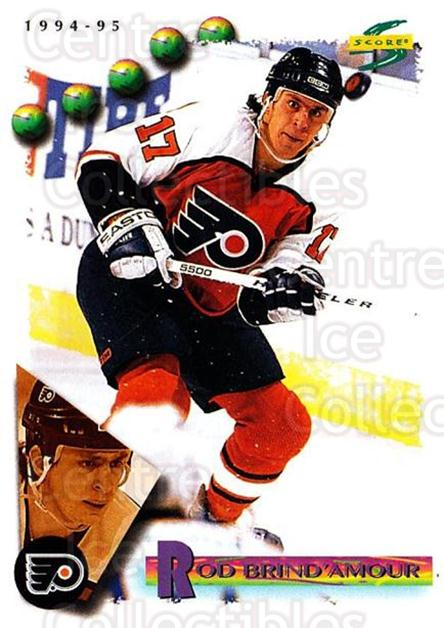 1994-95 Score #132 Rod Brind'Amour<br/>4 In Stock - $1.00 each - <a href=https://centericecollectibles.foxycart.com/cart?name=1994-95%20Score%20%23132%20Rod%20Brind'Amour...&quantity_max=4&price=$1.00&code=33791 class=foxycart> Buy it now! </a>